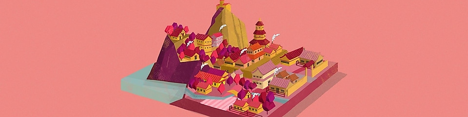 Animation of a city in China