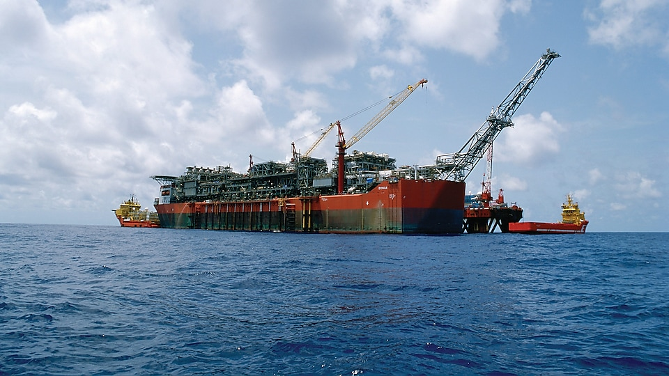 The SNEPCo Bonga Floating Production Storage and Offloading(FPSO) vessel